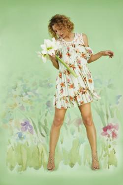 N / 702A FLOWER PRINT DRESS...