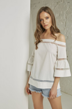 MP291 CAMICIA BORDI MACRAME'