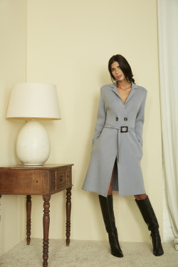 PTA4083 COAT WITH BELT
